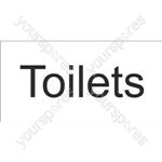 Toilets Sign - Self Adhesive Vinyl - 100mm x 200mm