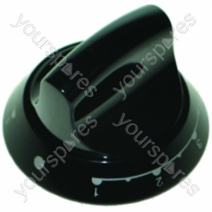 Indesit Black 'Twin' Control Knob