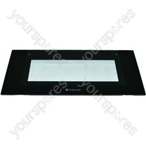 Indesit Top Door Glass Black