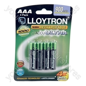 4Pk NIMH AccuDigital Battery - AAA 900mAh