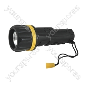 2xD Rubber Torch with Spare Bulb