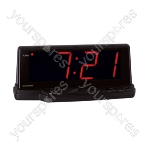 Prelude'' 1.8'' Jumbo Red Led Alarm Clock