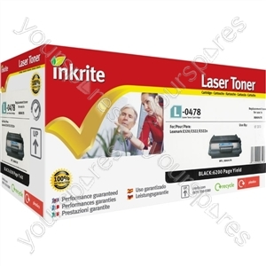 Inkrite Laser Toner Cartridge compatible with Lexmark OPTRA E320 Black