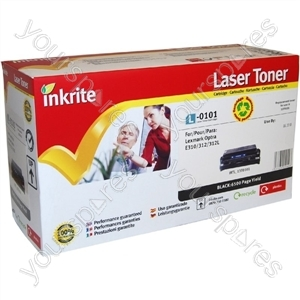 Inkrite Laser Toner Cartridge compatible with Lexmark Optra 310 / 312 Hi-Cap Black