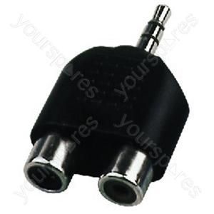 Y-Adaptor 3.5St/Cinch - Adapter