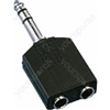 Y-Adaptor 6.3/6.3mm Stereo - Adapters