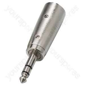 XLR Adaptor - Adapters Xlr/6.3mm Stereo Plug