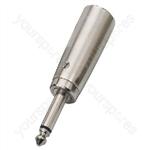 XLR Adaptor - Adapter Xlr/6.3mm Mono Plug