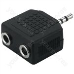 Y-Adaptor 2.5/2 x 3.5 Stereo - Adapter
