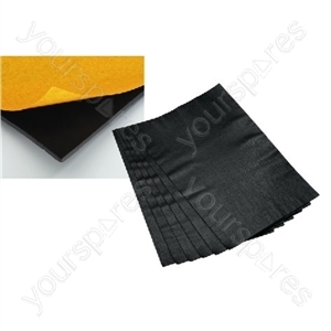 Sound-Deadening Foil - Bituminous Felt, 6 Sheets (1m<sup>2</sup>), Approx.5kg/m<sup>2</sup>