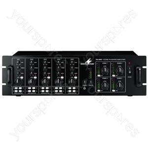 PA Amplifier - 4-channel Mono Mixing Amplifier
