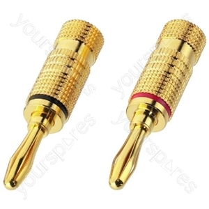 Banana Plug - Pair Of Banana Plugs For Speakers, 4 mm