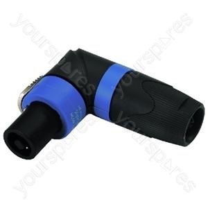Right Angle Speakon Plug - Neutrik Speakon Connectors