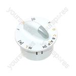 Zanussi White Washing Machine Control/Timer Knob