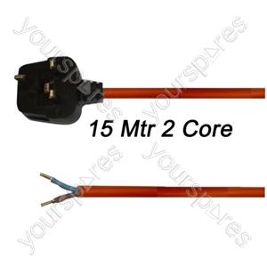 Flex 15 Metre 1.5mm 2 Core Orange