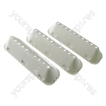 3 X Indesit Hotpoint Washing Machine Drum Paddle Lifters 10 Hole Type