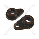 2 x Tumble Dryer Rear Drum Bearing Teardrop Shape Fits Hotpoint, Indesit, Ariston, Creda