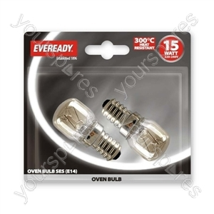 Eveready Oven Lamp 15w Ses Blx 2