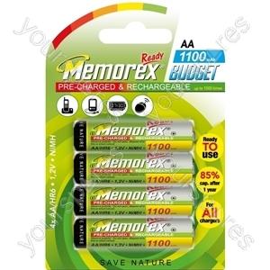Memorex R6/aa 1100mah Ready Budget 4pk