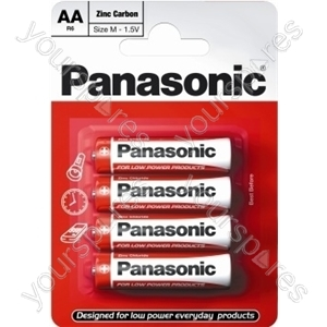 Panasonic AA B4 Non Price Zinc R6rz/4bp Eu