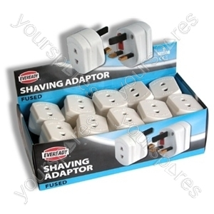 Shaver Adaptor Fused1 Amp A01