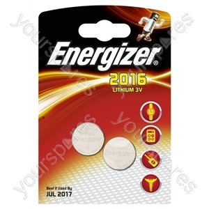 Cr2016 Energizer 2pk 624834 626986