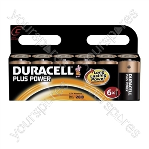 Duracell Plus Power C 6pk 019157