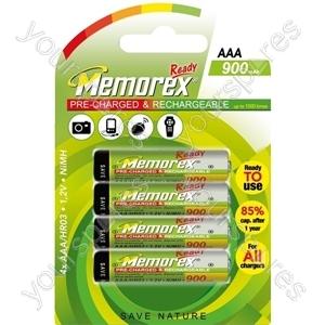 Memorex R03/aaa 900mah Ready 4pk