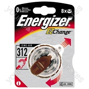 Energizer Zinc Air 312 Dp-8 634924 Was 629329