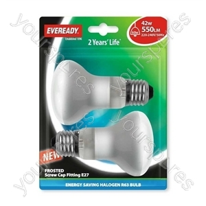 Eveready Energy Saving Halogen R6 3 Reflector 42w (60w) Es Blis