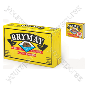 B1833 Brymay Original Safety Matches 10 X 10 Packs