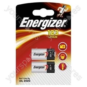 Energizer Cr123 Pk2 628289