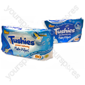 B1176 Tushies Premier Moisture Baby Wipes
