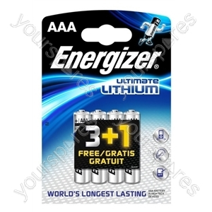 Energizer AAA Lithium 3+1free 632967