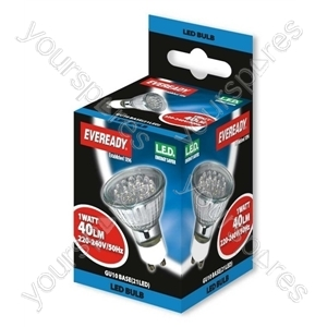 Eveready Gu10 21 Cluster Led Warm White 38' Beam 3000k