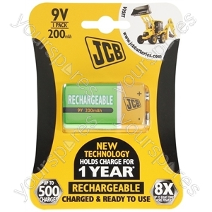 JCB Jcb 9v B1 Rtu 200mah Ready-to-use Low Self-discharge