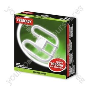 Eveready 2d Lamp 240v 16w 4pin 3500k