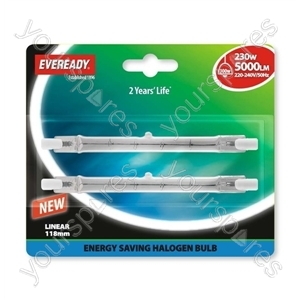 Eveready Energy Saver Halogen Lin Ear 230w(300w) 118mm Blister