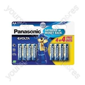 Panasonic Evolta Lr6 B4+4 Free Lr6ee/8bw 4+4 Free