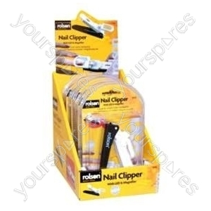 B808 Rolson Nail Clipper With Led And Magnifier