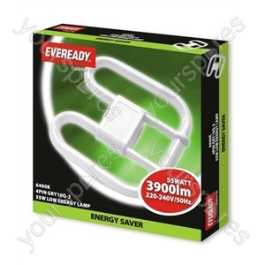 Eveready 2d Lamp 240v 55w 4 Pin 6400k