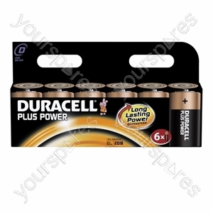 Duracell Plus Power D 6pk 019232
