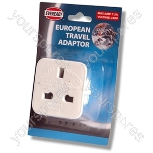 European Travel Adaptor 9168a-blis