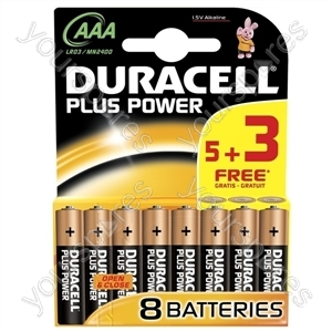 Duracell AAA Plus Power 5+3 Free 018815