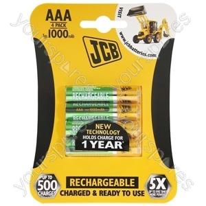 JCB Jcb Rx03/aaa1000mah 4pk