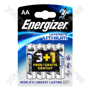 Energizer AA Lithium 3+1free 632966
