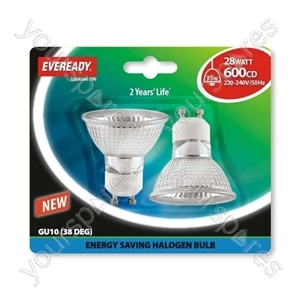 Eveready Es Gu10 (35w) 28w Cap Silver