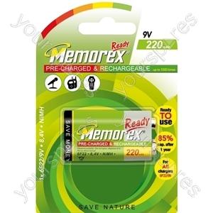 Memorex 9v Ready 220mah A0050 321402201