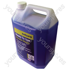 B1113 Sakura Screen Wash Ready Mix 5 Litre
