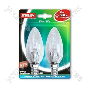 Eveready C35 Candle Halogen 42w(